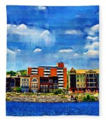Along The Tennessee River In Decatur Alabama Fleece Blanket