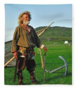 Along The Viking Trail Fleece Blanket
