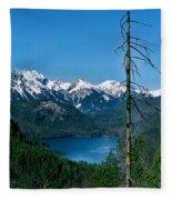 Alp See Lake In Bavaria Germany Fleece Blanket