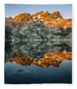 Alpenglow At Upper Sardine Lake Fleece Blanket