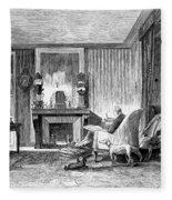 Alphonse De Lamartine Fleece Blanket