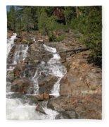Alpine Creek Falls Lake Tahoe Fleece Blanket