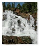 Alpine Falls Glen Alpine Falls Lake Tahoe Fleece Blanket