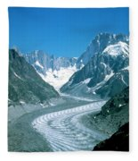 Alpine Glacier Fleece Blanket