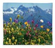 Alpine Wildflowers Fleece Blanket