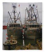 Aluminum Fishing Boats Fleece Blanket