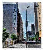 Am And As Downtown Buffalo Fleece Blanket