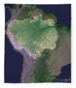 Amazon River Sources Fleece Blanket