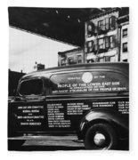 Ambulance, Late 1930s, Nyc Fleece Blanket