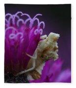 Ambush Bug On Tall Ironweed Fleece Blanket
