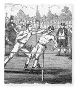 American Boxing, 1859 Fleece Blanket