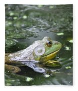 American Bull Frog Fleece Blanket