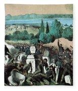 American Civil War, Battle Of Baton Fleece Blanket