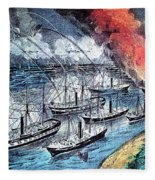 American Civil War, Farraguts Fleet Fleece Blanket