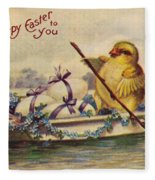 American Easter Card Fleece Blanket