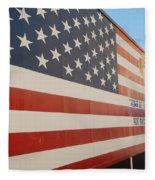 American Flag At Nathan's Fleece Blanket