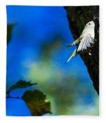 American Goldfinch Leaving Fleece Blanket