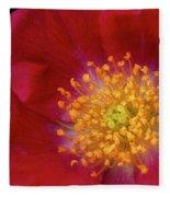 American Pillar Climbing Rose Fleece Blanket