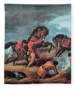 American Prairie Hunters Using Fire Fleece Blanket