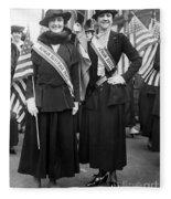 American Suffragists Fleece Blanket