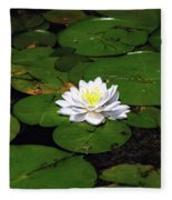 American White Waterlily Fleece Blanket