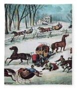 American Winter 1870 Fleece Blanket