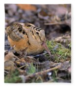 American Woodcock Bird Fleece Blanket
