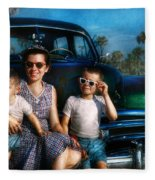 Americana - Car - The Classic American Vacation Fleece Blanket