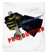 America's Answer -- Production  Fleece Blanket