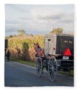 Amish Buggies October Road Fleece Blanket