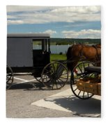 Amish Buggy Fleece Blanket