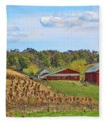 Amish Cornfield Fleece Blanket