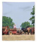 Amish Manure Spreader Fleece Blanket
