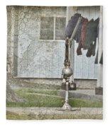 Amish Pump And Cup Fleece Blanket