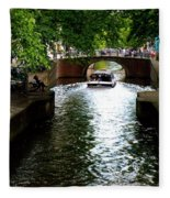 Amsterdam By Boat Fleece Blanket
