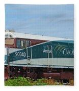 Amtraks Cascade Engine Fleece Blanket
