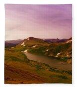 An Alpine Lake On Beartooth Pass  Fleece Blanket