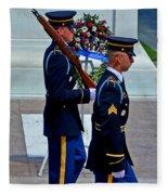 An American Soldier Fleece Blanket