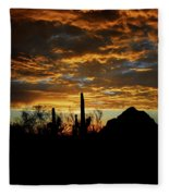 An Arizona Desert Sunset  Fleece Blanket