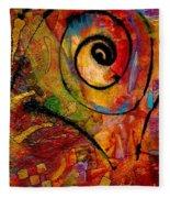 An Artist In Wonderland Fleece Blanket