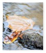 An Autumn Day's Rest Fleece Blanket