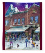 An Early Snow For Cafe Monte Alto Fleece Blanket