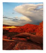 An Evening In The Valley Of Fire Fleece Blanket