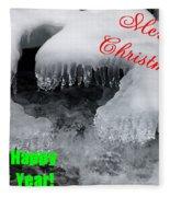 An Icy Christmas Fleece Blanket
