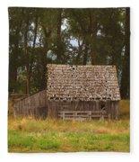 An Idaho Barn Fleece Blanket