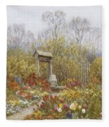 An Old Well Brook Surrey Fleece Blanket