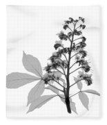 An X-ray Of A Chestnut Tree Flower Fleece Blanket