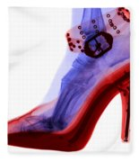 An X-ray Of A Foot In A High Heel Shoe Fleece Blanket