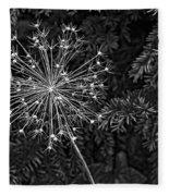 Anatomy Of A Flower Monochrome 2 Fleece Blanket