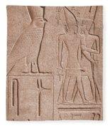 Ancient Stone Carvings, Karnak, Egypt Fleece Blanket